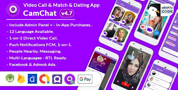CamChat v4.7 - Dating, Match, Meet New People, Video Call, Chat - CodeCanyon Item for Sale