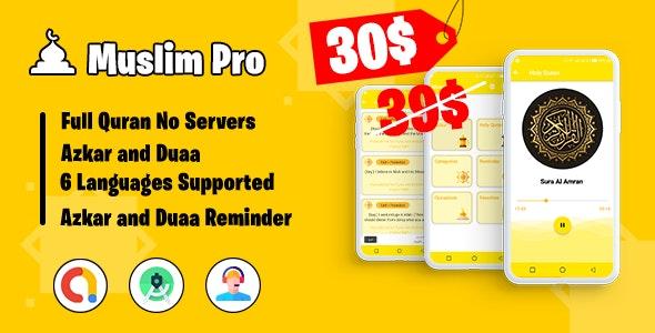 Muslim Pro - Holy Quran & Duaa Reminder - CodeCanyon Item for Sale