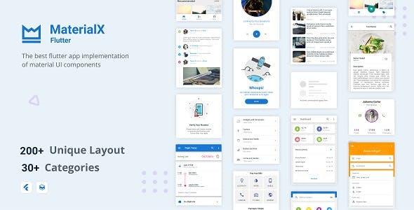 MaterialX Flutter - Flutter Material Design UI Components 2.1