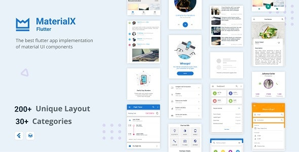 MaterialX Flutter - Flutter Material Design UI Components 2.1 - CodeCanyon Item for Sale