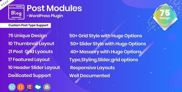 Posts Modules - Responsive WordPress plugin - CodeCanyon Item for Sale