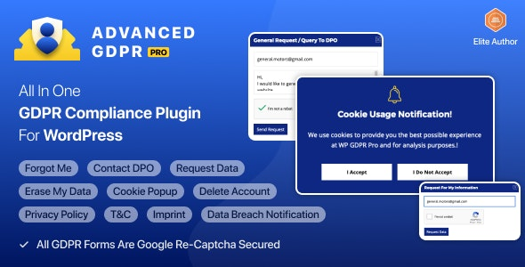 WP GDPR PRO - Most Advanced GDPR Plugin by flippercode | CodeCanyon