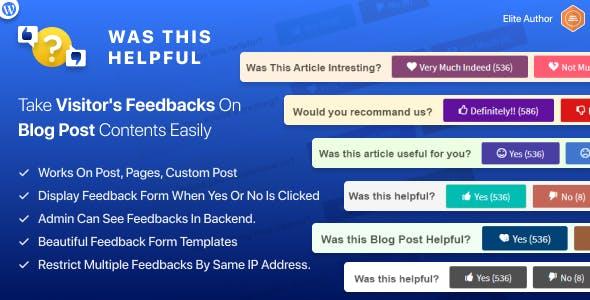 Was this Helpful WordPress Plugin