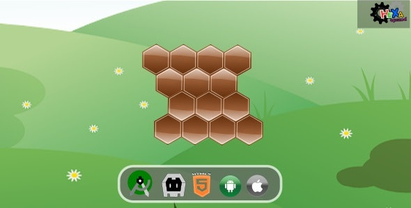 Hexa Puzzle HTML5 Desktop & Mobile Game - CodeCanyon Item for Sale