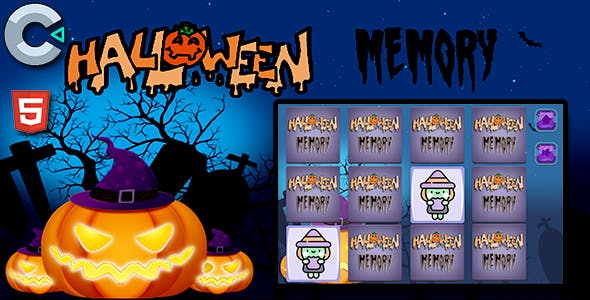 Halloween Memory - HTML5 Mobile Game