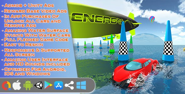 Water Floating Car Stunt Game Unity 3D