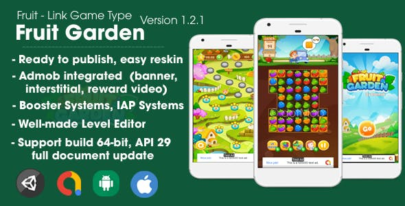Fruit Garden (Unity Game + Android + iOS + AdMob)