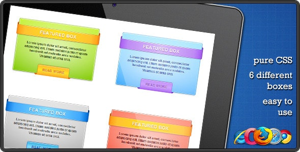 CSS Web Boxes - CodeCanyon Item for Sale