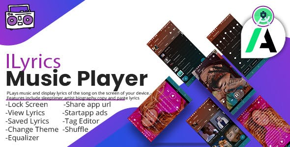 ILyrics Music Player With Startapp Ads