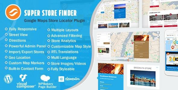 Super Store Finder for WordPress (Google Maps Store Locator) - CodeCanyon Item for Sale