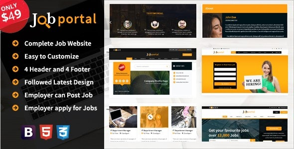 Job Portal Platform  A complete Job portal website - CodeCanyon Item for Sale