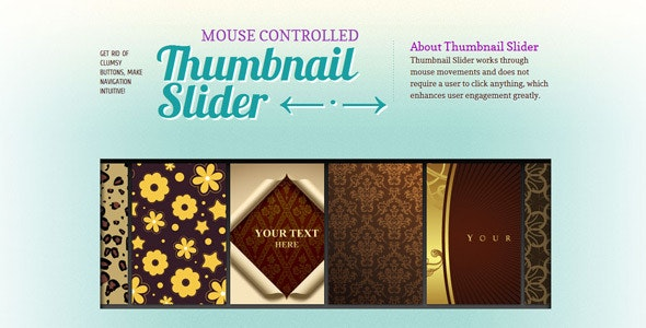 Thumbnail Gallery Slider - CodeCanyon Item for Sale