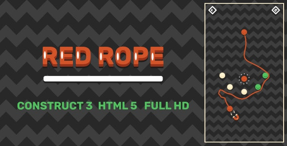 Red Rope - HTML5 Game (Construct3) - CodeCanyon Item for Sale