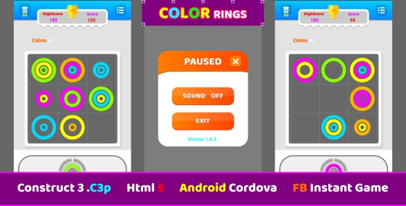 construct 3 color ring, puzzle game - CodeCanyon Item for Sale