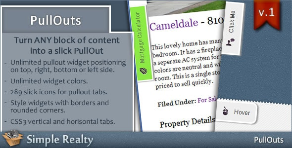 PullOuts - jQuery Slide-out Widgets - CodeCanyon Item for Sale
