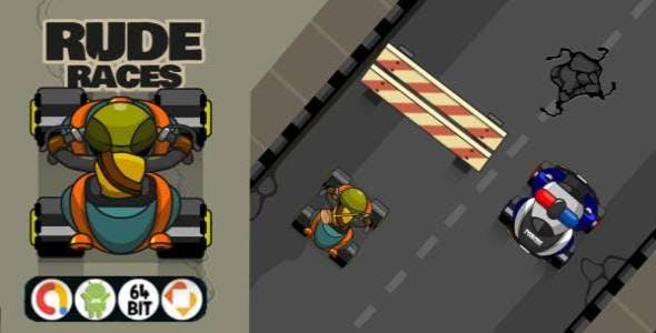 Rude Races - Android Studio & (AdMob Ads + API LEVEL 29))