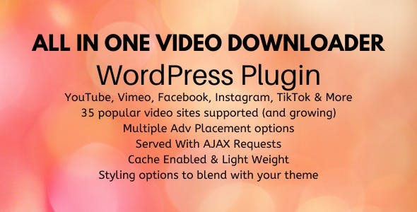 All In One Video Downloader - WordPress Plugin