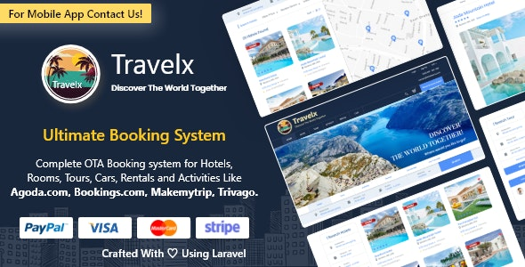 TravelX - Ultimate Hotel Tours Travels Booking System