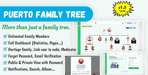 Puerto Family Tree Builder - CodeCanyon Item for Sale