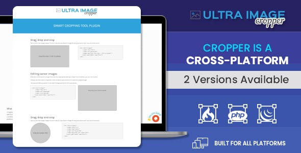 Ultra Image Cropper – Smart Cropping Tool Plugin built on PHP (CorePHP and Codeigniter) Script