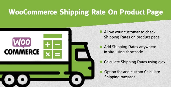 WooCommerce Shipping Rate On Product Page - CodeCanyon Item for Sale