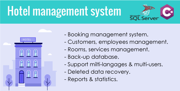 Hotel Management System With source Code C# & Sql server