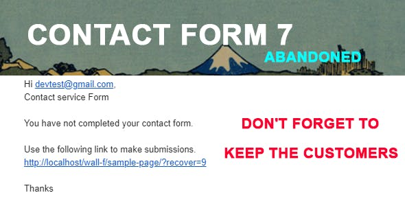 Contact Form 7 Recover Abandoned Form