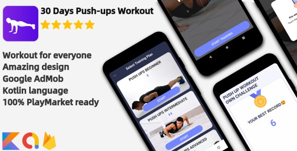 Push-ups Workout - Android Workout Application - CodeCanyon Item for Sale