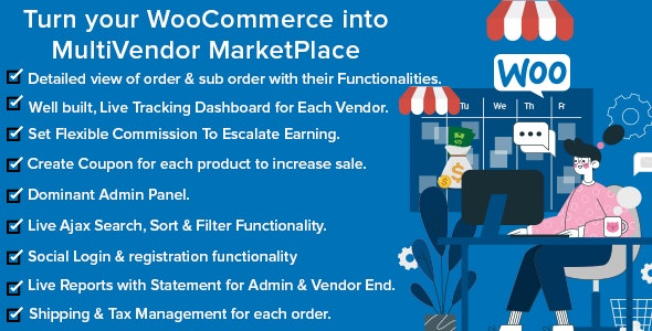 Mercado Pro - Turn your WooCommerce into Multi Vendor Marketplace - CodeCanyon Item for Sale