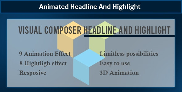 Visual Composer - Animate Headline And Highlight Extension - CodeCanyon Item for Sale