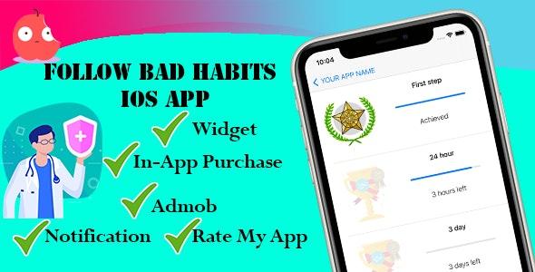 Follow bad habits iOS App - CodeCanyon Item for Sale
