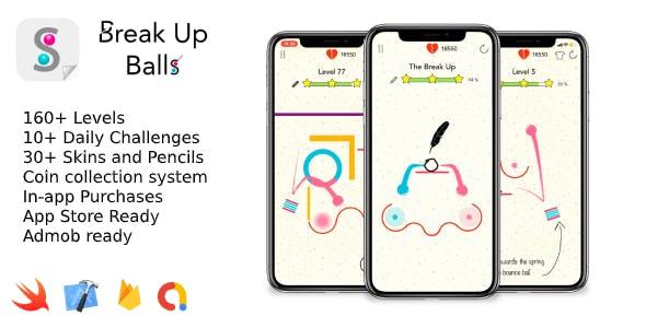 Break Up Balls - iOS 2D Game
