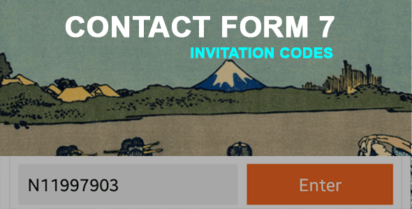 Contact Form 7 Invitation Codes