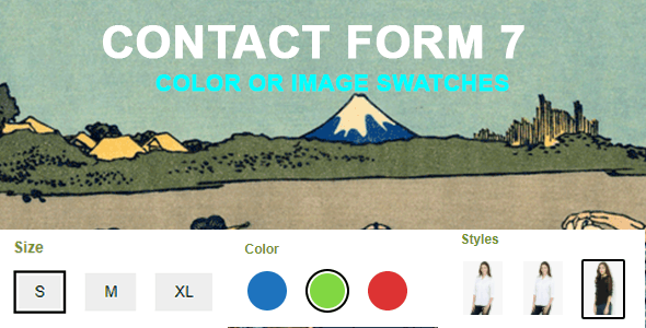 Contact Form 7 Color or Image Swatches