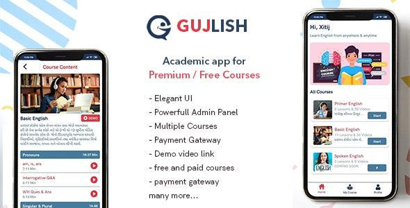 Gujlish - E learning | online Courses - CodeCanyon Item for Sale