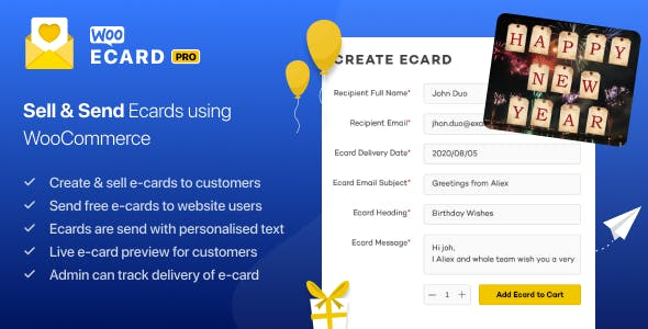 WooCommerce eCards WordPress Plugin