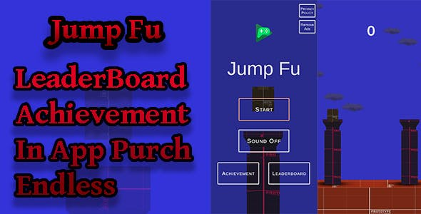 Jump Fu 2D&3D Unity Game | Admob Ads | Play Games Services