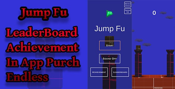Jump Fu 2D&3D Unity Game | Admob Ads | Play Games Services - CodeCanyon Item for Sale