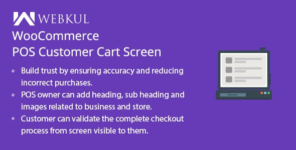 WooCommerce POS Customer Cart Screen