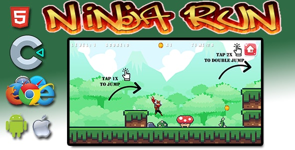 Ninja Run - HTML5 Mobile Game - CodeCanyon Item for Sale