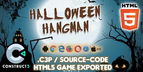 Halloween Hangman HTML5 Game - Construct 3 Source-code - CodeCanyon Item for Sale