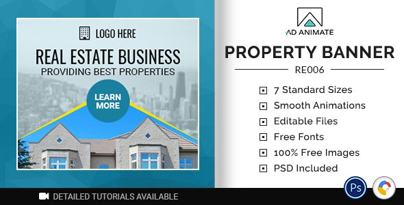 Real Estate   Property Banner (RE006) - CodeCanyon Item for Sale