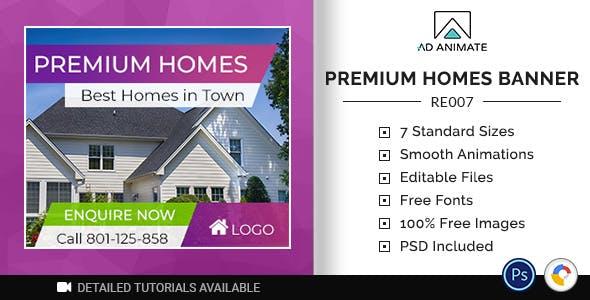 Real Estate | Premium Homes Banner (RE007)