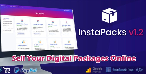 InstaPacks B2C Platform for Selling Services Packages Online - CodeCanyon Item for Sale