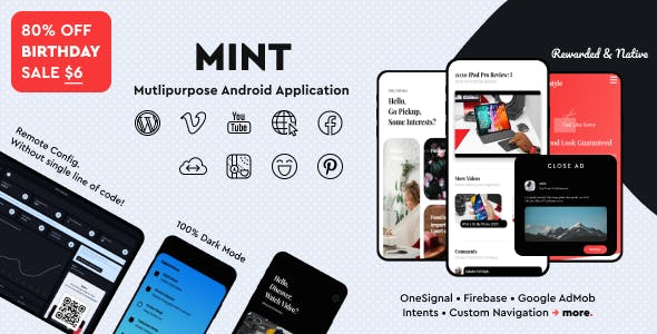 Mint - WebView & Multi-purpose Android App With Remote Config