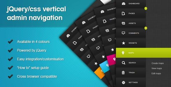 jQuery/CSS Vertical Admin Navigation