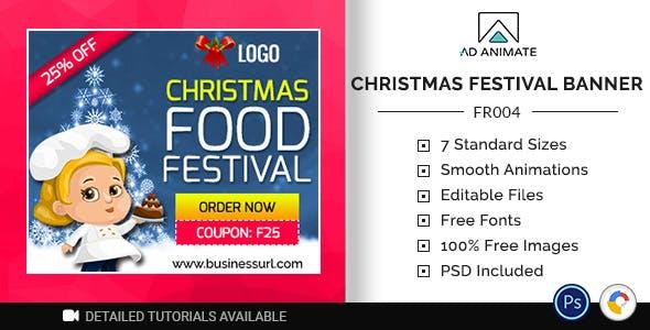 Food & Restaurant | Christmas Food Festival Banner (FR004)