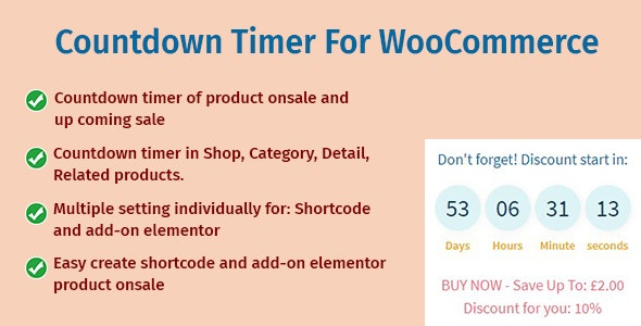 Countdown Timer For WooCommerce - CodeCanyon Item for Sale