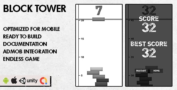 Block Tower - Unity Game - Android Hypercasual Game