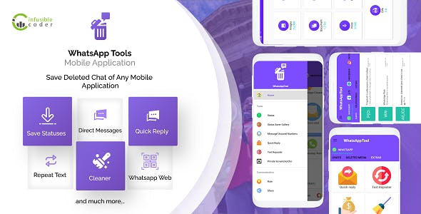 WhatsAppTool: View Deleted Messages(All social media networks) & Status Saver